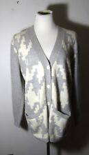 Women's Valerie Stevens Gray Angora Blend Cardigan Sweater Size Ps