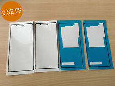 """2 Set New Adhesive Sticker Sony Xperia Z3 Glass Screen 5.2 """"Front Back Cover Fix"""