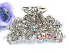 New Style Rhinestones Crystal Flowers metal hair Clip Hair Claw Hair clamp