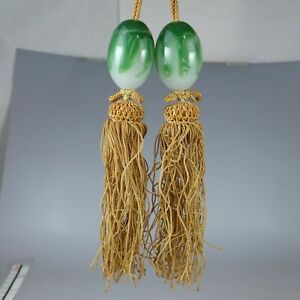 YA169 FUCHIN weight for hanging scrolls Japanese Glass Kakejiku Art Picture