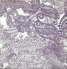 2 pcs Single Paper Napkins For Decoupage Craft  Lace pattern