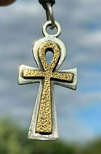 "Egyptian Key Of Life 92.5 Sterling Silver Ankh Cross 1"" Jewelry Necklace"