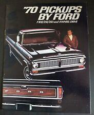 '70 PICKUPS by FORD Original 1970 Dealer Sales Brochure F-100/250/350 Ex