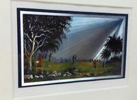 Christian Religious Framed Print Metallic Shepherd Heaven Tabletop Home Decor