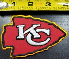 "Kansas City Chiefs reverse color 4"" Team Logo iron/sew on patch~FREE US SHIPPING"