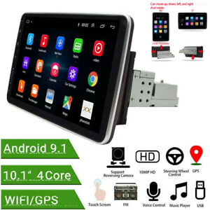 Android9.1 10.1in 1Din Car FM Stereo Radio MP5 PLayer WIFI Bluetooth GPS Sat Nav