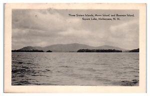 Three Sisters, Moon, and Bowman Islands, Squam Lake, Holderness, NH Postcard