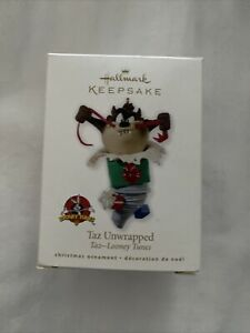 Looney Tunes TAZ Unwrapped Hallmark Keepsake Ornament 2010 NIB