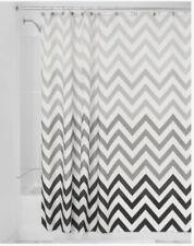 "iDesign Fabric Chevron Shower Curtain 72"" X 72"" Gray Ombre"