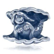 AUTH Nagara 925 Sterling Silver MERMAID European Charm Bead