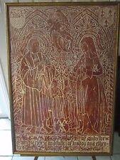 Andrew Evyngar Rare orig Red Wax Brass Monumental Brass Rubbing-1513-All Hallows
