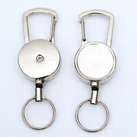 2pcs Heavy Duty Retractable Key Holder Key Chain Clip Quick Release 19.68in