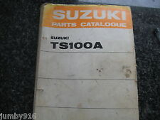 SUZUKI TS100A,TS100K,TS100L,TS100M,TS100A 4th Edition 1975 PARTS CATALOGUE