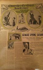 MAY 4, 1902 NEWSPAPER PAGE #J5787- MODERN CIRCUS EYES CONQUER SAVAGE ELEPHANT