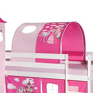 Tunnel für Hochbett Rutschbett Spielbett Kinderbett in rosa PRINZESSIN