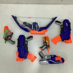 Assorted Bulk Nerf Guns Stratobow Proton Untested Parts Only & Accessories # 454