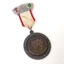 Vintage 1977 Boy Scout Order of the Arrow Medal - BSA + Girl Scouts Award Pin