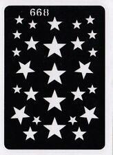 GT668 Body Art Temporary Glitter Tattoo Stencil Stars Star