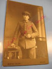 Soldat 1895-1910 Kabinett,CDV Foto.Atelier Bauer,Apolda-Antique photo