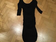 Alice by Temperley New Ladies Size 8 UK Black 3/4 Sleeved Cotton Blend Dress
