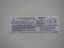 1979 CHEVROLET CHEVELLE MALIBU EL CAMINO 350 4BBL ENGINE EMISSIONS DECAL NEW