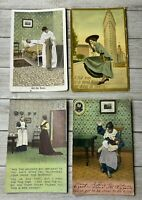 Lot Of 4 Vintage Postcards Post Cards Assorted Greetings