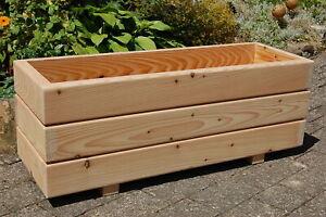 Holz Blumenkasten, Pflanzkasten XXL massiv Lärche unbehandelt