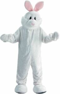 White Rabbit Mascot Costume Adult Easter Bunny Jumpsuit