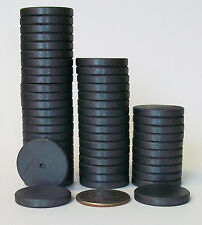 "50 ROUND 1"" BEVELED EDGE  C8 Strong Ceramic Magnets Only"