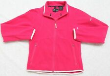 Athletic Jacket Coat Small Red Polyester Spandex Six Fleece Sunice Zip Front