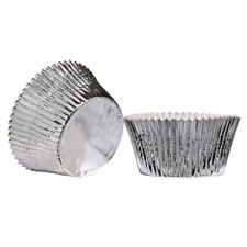 Cupcake Cases (Large) | Set of 40 | Greaseproof | Silver Foil