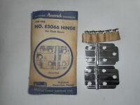 Vintage Amerock Flush Hinges Chrome Plated E3066 Cabinet Cupboard Door Hoosier