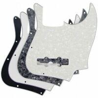 AXL Jazz Bass Pickguard 10 Hole Fender JBass J White Black 4 Ply Pearloid