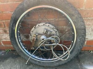 Yamaha R5 350 Used Original Front Wheel C/W Twin Leading Brake Plate & Speedo