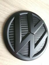 VW Heck Emblem Zeichen Schwarz Matt Carbon Caddy Transporter T5 T6 Bus Bulli