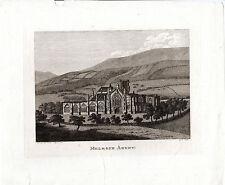 ANTIQUE SCOTTISH imprimer-Melrose Abbey-Samuel Hooper en taille-douce (1790)