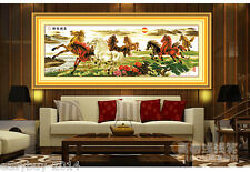 New DIY Needlework 3D Cross Stitch Kit,Embroidery Kits Painting Horse Running