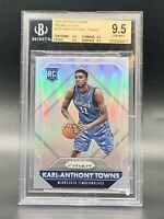 "❤️2015-16 Karl-Anthony Towns Panini Prizm Silver Rookie ""True Gem Mint"" BGS 9.5"