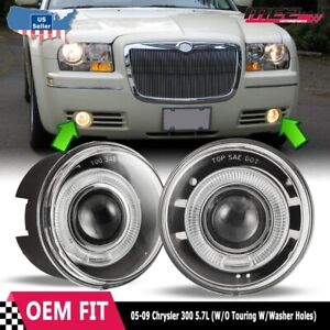 05-10 Chrysler 300 OE Style Replacement Halo Projector Fog Lights Clear Lens