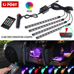 Car Interior RGB LED Strip Lights Atmosphere Decorative Neon Music Lamp AU