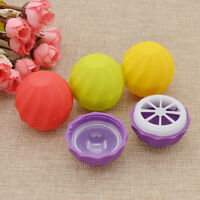 10pcs Blank Cosmetic Ball Container 4Colors Lip Balm Jar Eye Gloss Cream Round