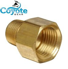"Female 3/4"" x Male 1/2"" NPT Brass Pipe Thread Reducer Fitting Coyote Gear"