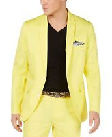 INC Mens Sport Coat Yellow Size Large L Slim Fit Two-Button Stretch $129 #075