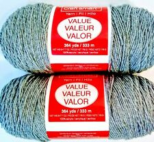 Lot of 2 Skeins Craftsmart 100% Acrylic 4-ply Yarn 7oz Color Gray NEW w Wrappers