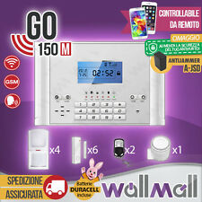 ANTIFURTO ALLARME KIT CASA COMBINATORE GSM WIRELESS CELLULARE SMARTPHONE GO150M