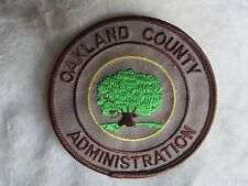 "Oakland County Administration Patch - Police Dept - 3 3/4"" x 3 3/4"""