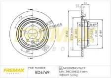 Disc Brake Rotor-GAS Rear Fremax BD6769