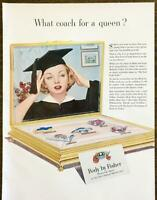 1952 GM Cars Body by Fisher PRINT AD What Coach for a Queen? Graduate Cap Gown