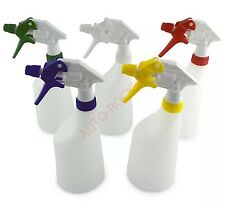 5 x Trigger Spray Bottles, Valeting canyon chemical resistant heads multi 600ml