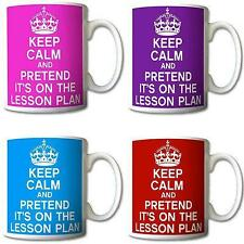 Keep Calm and Pretend Its On The Lesson Plan Mug Cup Gift Mugs